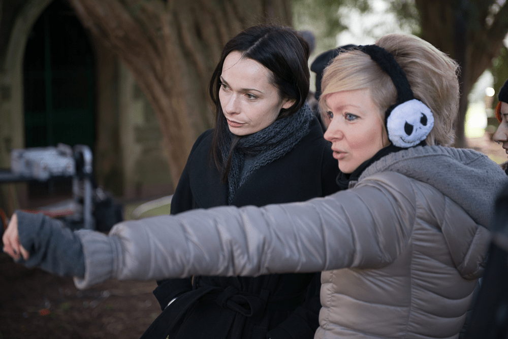 """Axelle Carolyn directing the feature film """"Soulmate"""", with actress Anna Walton"""