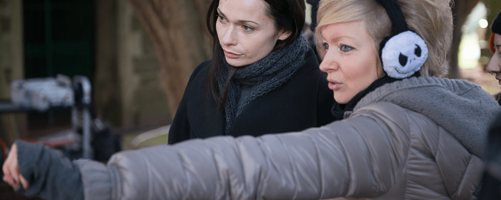 "Axelle Carolyn directing the feature film ""Soulmate"", with actress Anna Walton"