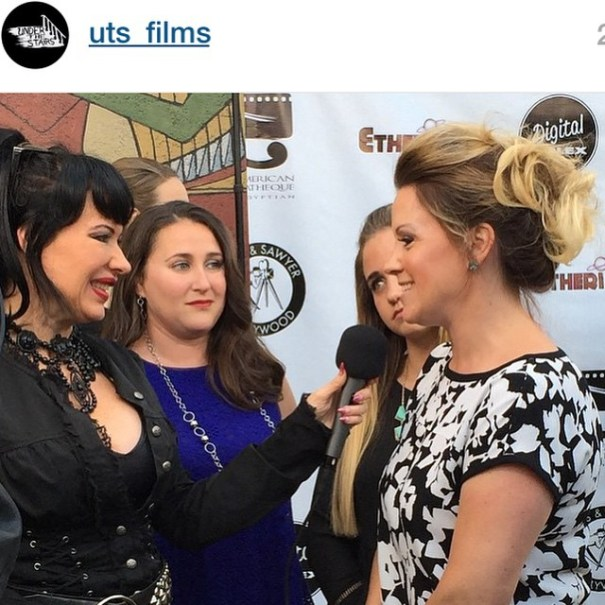 Anna Elizabeth James, Sandra Leviton, and Sandra's daughter interviewed by Josi Kat at Etheria Film Night 2015