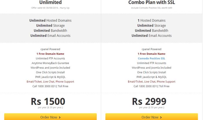 GlobHost Webhosting Unlimited Plans (www.ethicalblogging.com)