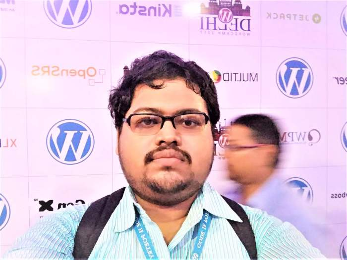Subhabrata-Kasyapi-Serious-Selfi-WordCamp-Delhi-2017