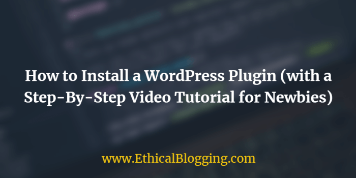 How to Install a WordPress Plugin Featured Image