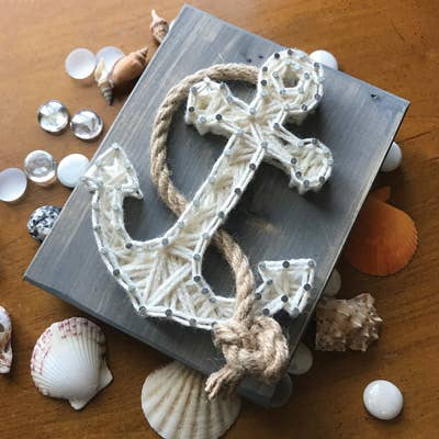 Anchor string art great for gifts for kids ages 8+