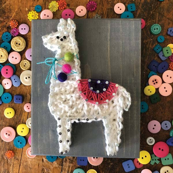 Llama string art great for gifts for kids ages 8+