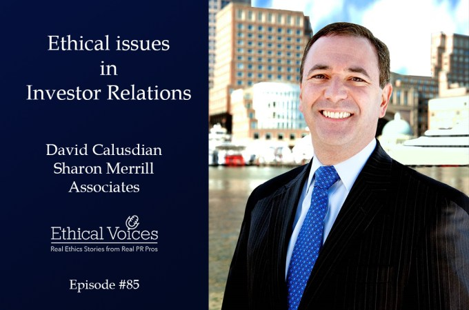 Ethical issues in Investor Relations