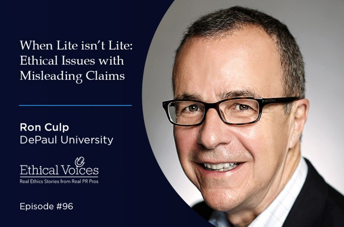 When Lite isn't Lite: Ethical Issues with Misleading Claims - Ron Culp