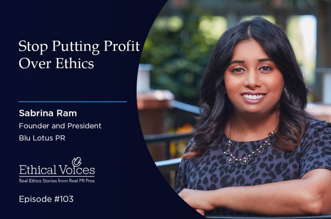 Stop Putting Profit Over Ethics – Sabrina Ram