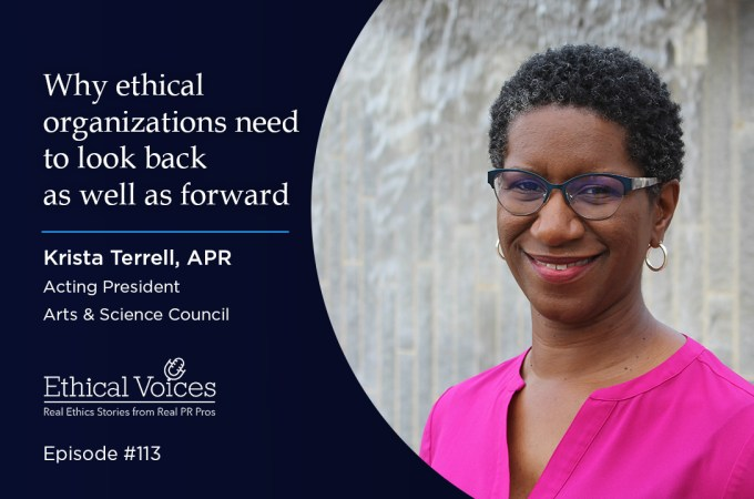 Why ethical organizations need to look back as well as forward - Krista Terrell