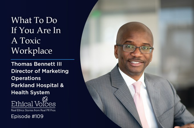 What To Do If You Are In a Toxic Workplace – Thomas Bennett III