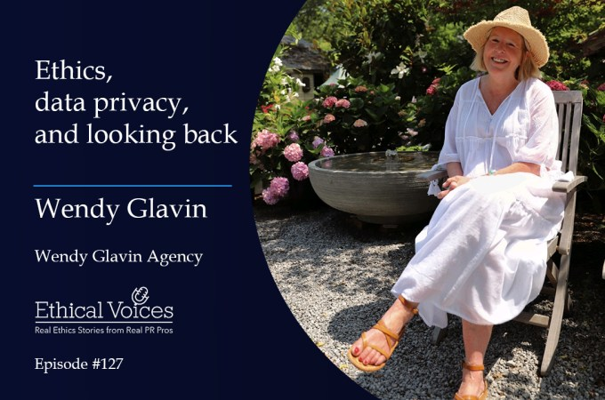 Ethics, data privacy and looking back – Wendy Glavin