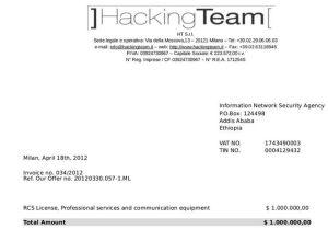 hacking team Ethiopia