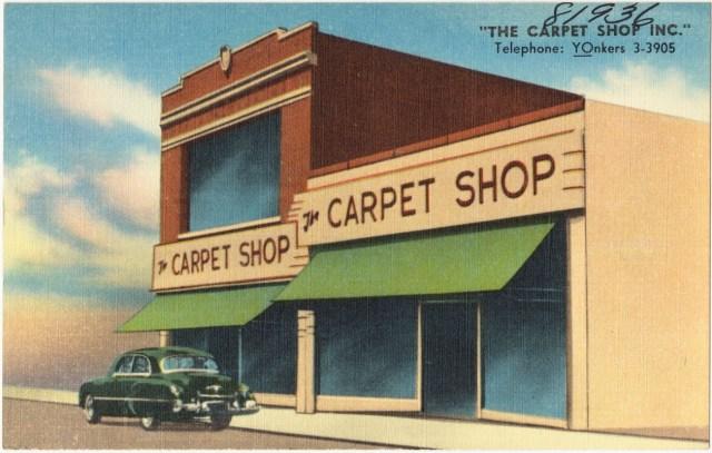 Postcard of Carpet Shop