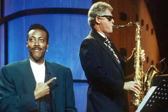 Image result for arsenio hall bill clinton