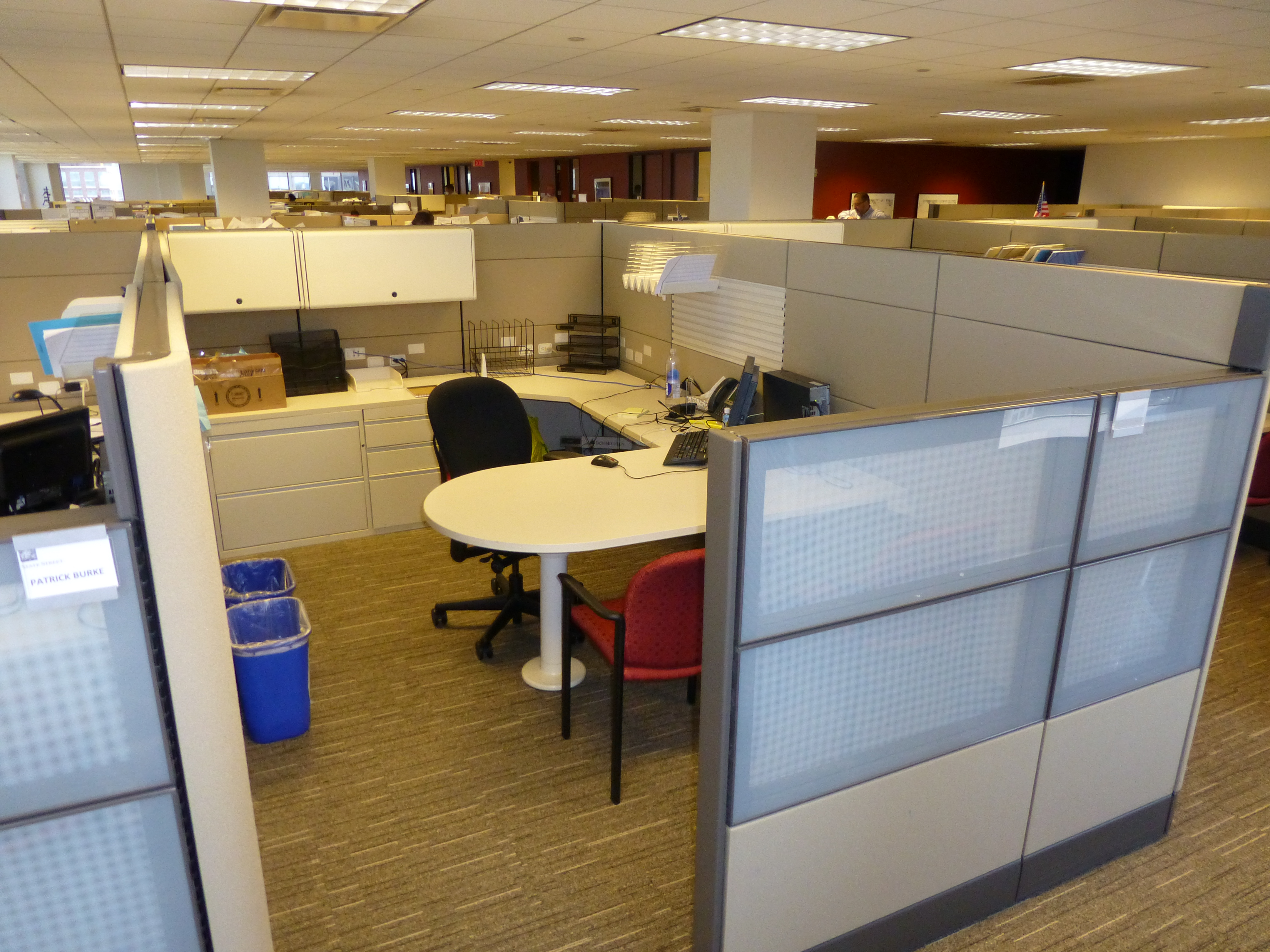 Used Herman Miller 8x 13 Ethospace Manager Cubicle