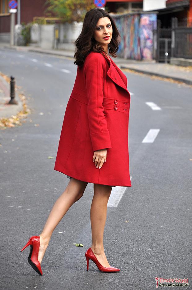 pantofi stiletto rosii vega