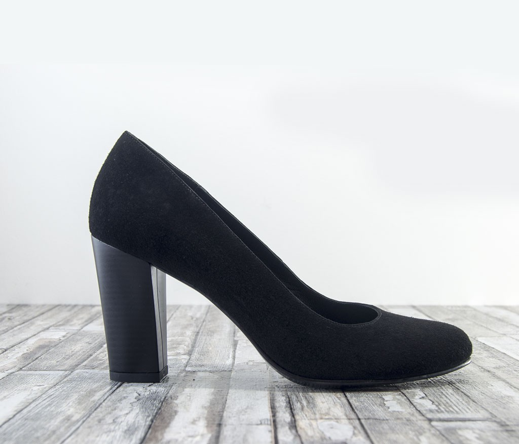 pantofi toc gros velur negru 1_1