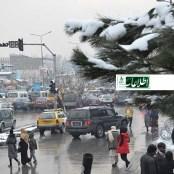 از دومین بارش برف در کابل