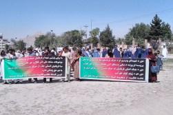 نادیدهانگاری قربانیان جنگ در روند صلح؛ گروهی از بازماندگان قربانیان جنگ در کابل اعتراض کردند