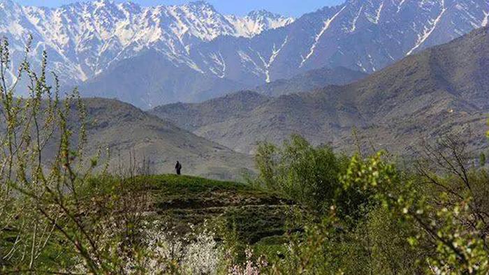 نمایی از ولسوالی شکردره در شمال کابل – عکس از شبکههای اجتماعی