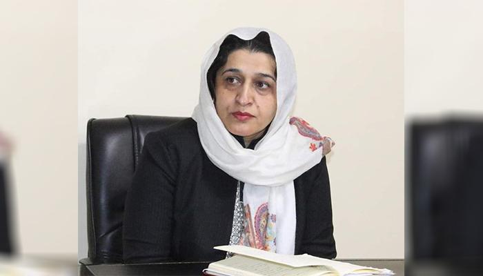حسینه صافی، سرپرست وزارت امور زنان افغانستان/ عکس: شبکههای اجتماعی