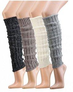1paire en tricot manchette avec laine d'alpaga Guêtres pour adolescentes et damench de 354 – Argenté – One Size