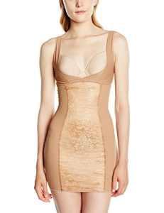 Aubade – Hypnodream Fond de Robe – Combinaison Gainante – Uni – Femme – Beige (Rafia) – FR: 40 (Taille Fabricant: L)
