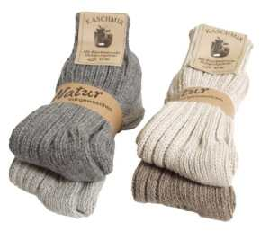 BRUBAKER Chaussettes tricotées en Cachemire – Lot de 4 Paires – 48% Laine de mouton et 40% Cachemire – Unisexe – 39-42 – Multicolore