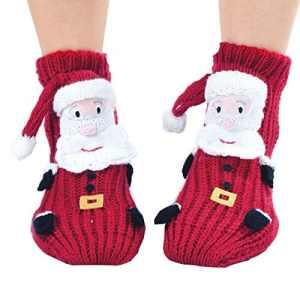 Coxeer® Women's 3D Cartoon Socks Non-slip Woollen Stockings