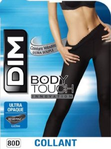 Dim Body Touch Ultra Opaque – Collants – 80 deniers – Femme – Noir – 3/4