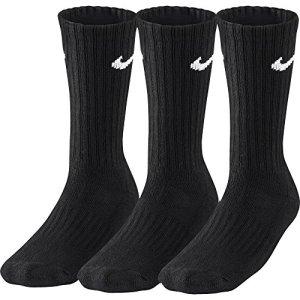 Nike paire de chaussettes pour femme/homme sx4508 001 Noir 34-38