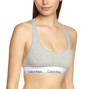 Calvin Klein Underwear – Soutien-Gorge de Sport – Brassière – Uni – Femme – Gris (Grey Heather 020) – S