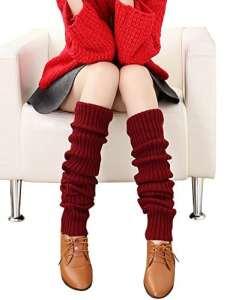 Urban GoCo – Guêtres – Femme taille unique – rouge – Taille Unique