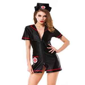 BTBT*infirmières et sexy femelles de police uniformes Schlafanzug brièvement jupes formation trousses jeu de rôles nuit d'opérations, BH, L-Kit