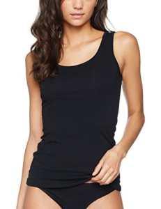 IRIS & LILLY Tank Top Femme Lot de 2, 2 x Noir, Large