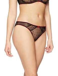 IRIS & LILLY Valentine, Maillot de Bain Deux Pièces Femme, Noir (Black/Red), 16 (Taille Fabricant: X-Large)
