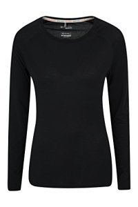 Mountain Warehouse T-shirt Femme Sous-Pull Manches longues absorbant IsoCool Dynamic Noir 38