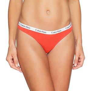 Calvin Klein Thong, Tanga Femme, Orange (Vibration), 8 (Taille Fabricant: Small)