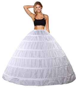Babydress® Jupons crinoline mariage jupon 6 cerceau mariée jupon hoopless robe de mariée Jupons femme Jupes sculptantes wedding petticoat robe de bal jupon Jupes femme Jupon (6 cerceau, Blanc)