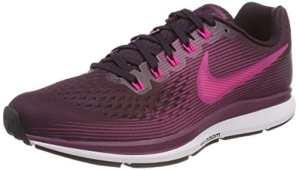 Nike Wmns Air Zoom Pegasus 34, Chaussures de Running Femme, Rose (Vin Porto/Rose Mortelle/Thé des Bois/Noir), 40.5 EU