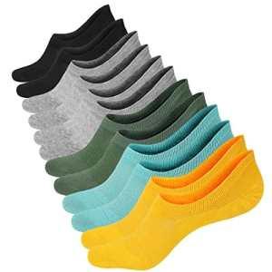 6 Paires Chaussettes Courtes Femmes Chaussettes Basses en Coton Respirantes Antidérapantes pour Mocassins Plats Sneaker