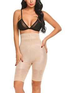 scallop Culotte Sculptante Gainante Femme avec Baleine Panty Minceur Ventre Plat Push Up Fesse Invisible Serre Taille Haute Panty Gaine Amincissante Lingerie Sculptante