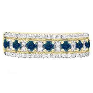 DazzlingRock Collection 18 carats Or jaune Rond Bleu Bleu – Diamant