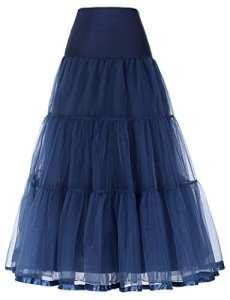 GRACE KARIN Retro Jupon Année 50 Rockabilly Crinoline Petticoat Tutu en Tulle Bleu Marine XL CL421-6