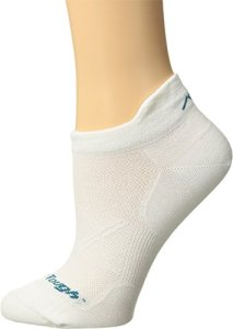 Darn Tough Coolmax Vertex No Show Tab Ultralight Socks – Women's White Small