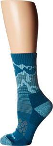 Darn Tough Three Peaks Micro Crew Light Cushion Sock – Women's Teal Small