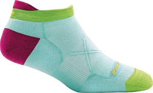 Darn Tough Vertex Coolmax No Show Tab Ultra-Light Cushion Sock – Women's Aqua Small