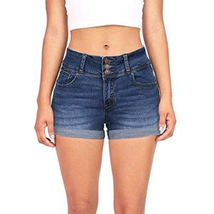 ReooLyLes Femmes à Faible Waisted Washed Solides Short Mini Jeans Pantalons Shorts
