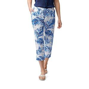 Tommy Bahama Women's Fuller Fronds Easy Crop Cobalt Sea Large