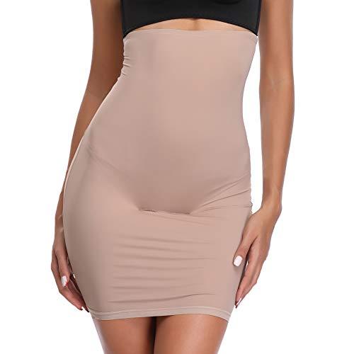 Joyshaper Jupe Sculptant Femme Haute Taille avec Slip Amincissante Shapewear sous-vêtement sans Couture, Beige, S