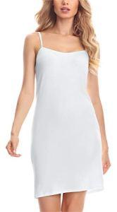 Merry Style Fond de Robe Lingerie Femme MS10-203 (Blanc, M)